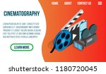 cinematography concept banner.... | Shutterstock .eps vector #1180720045