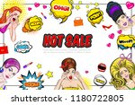 pop art sale concept with... | Shutterstock .eps vector #1180722805