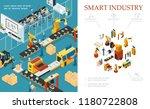 isometric modern industrial... | Shutterstock .eps vector #1180722808