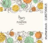 background with pumpkin  piece... | Shutterstock .eps vector #1180730815