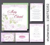 wedding invitation with white... | Shutterstock .eps vector #1180752352