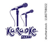 karaoke party promotion poster... | Shutterstock .eps vector #1180758022