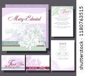wedding invitation with white... | Shutterstock .eps vector #1180763515