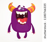 angry cartoon monster.... | Shutterstock .eps vector #1180766335