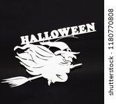 halloween holiday metal top... | Shutterstock . vector #1180770808