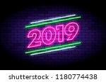 happy new year 2019... | Shutterstock .eps vector #1180774438