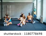 diverse group of fit people in... | Shutterstock . vector #1180778698