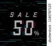 sale banner 50 per cent off.... | Shutterstock .eps vector #1180787125