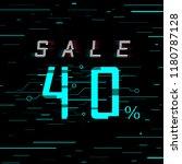 sale banner 40 per cent off.... | Shutterstock .eps vector #1180787128