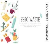 zero waste concept design with... | Shutterstock .eps vector #1180797715