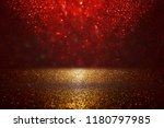 Red  Black And Gold Glitter...