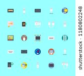 device icons set. work ... | Shutterstock .eps vector #1180802248