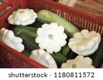 marrows and squashes in the... | Shutterstock . vector #1180811572