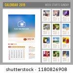 design of wall monthly calendar ... | Shutterstock .eps vector #1180826908