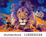 Lion Face Abstract