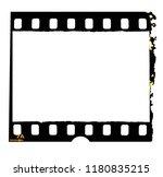 old 35mm film frame with burned ... | Shutterstock . vector #1180835215