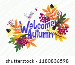 vector card with words welcome... | Shutterstock .eps vector #1180836598