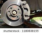 worn car brake disk brake... | Shutterstock . vector #1180838155