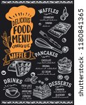 waffle and pancake menu... | Shutterstock .eps vector #1180841365