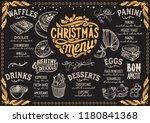 christmas menu template for... | Shutterstock .eps vector #1180841368