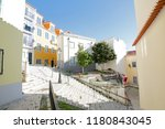 beautiful and unique alfama... | Shutterstock . vector #1180843045