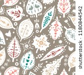 vector seamless pattern of... | Shutterstock .eps vector #1180844542
