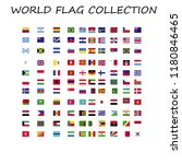 world flags collection | Shutterstock .eps vector #1180846465