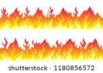 cartoon fire flame frame... | Shutterstock .eps vector #1180856572
