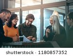 group of business people... | Shutterstock . vector #1180857352