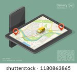 city map navigation route ... | Shutterstock .eps vector #1180863865