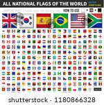 all official national flags of... | Shutterstock .eps vector #1180866328