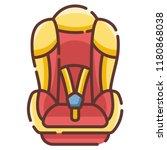baby car seat vector... | Shutterstock .eps vector #1180868038