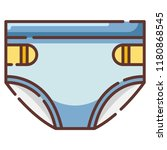 A Diapers Vector Illustration...