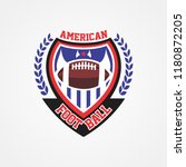 american football logo template | Shutterstock .eps vector #1180872205