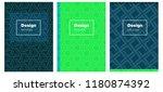 light blue  green vector layout ... | Shutterstock .eps vector #1180874392
