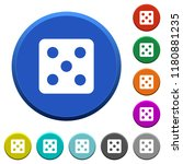 dice five round color beveled...   Shutterstock .eps vector #1180881235