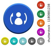 syncronize contacts round color ...   Shutterstock .eps vector #1180881238