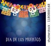 dia de los muertos  mexican day ... | Shutterstock .eps vector #1180888168