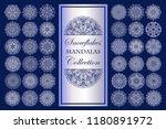 snowflakes vector illustration. ... | Shutterstock .eps vector #1180891972