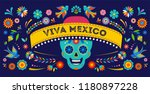 day of the dead  dia de los... | Shutterstock .eps vector #1180897228