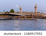 alexandre iii bridge in paris... | Shutterstock . vector #1180917052
