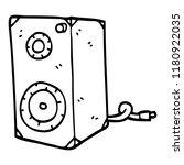 line drawing cartoon speaker box | Shutterstock . vector #1180922035