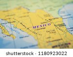 mexico on the map | Shutterstock . vector #1180923022