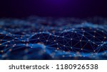 network connection dots and... | Shutterstock . vector #1180926538