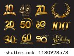set of anniversary logotype.... | Shutterstock .eps vector #1180928578