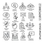 business management line icons. ... | Shutterstock .eps vector #1180928812