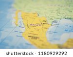 mexico on the map | Shutterstock . vector #1180929292