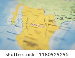 mexico on the map | Shutterstock . vector #1180929295