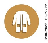 women's parka icon in badge...