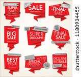 modern sale banners and labels... | Shutterstock .eps vector #1180934455